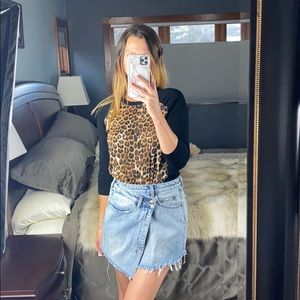 Express Leopard Sweater Small